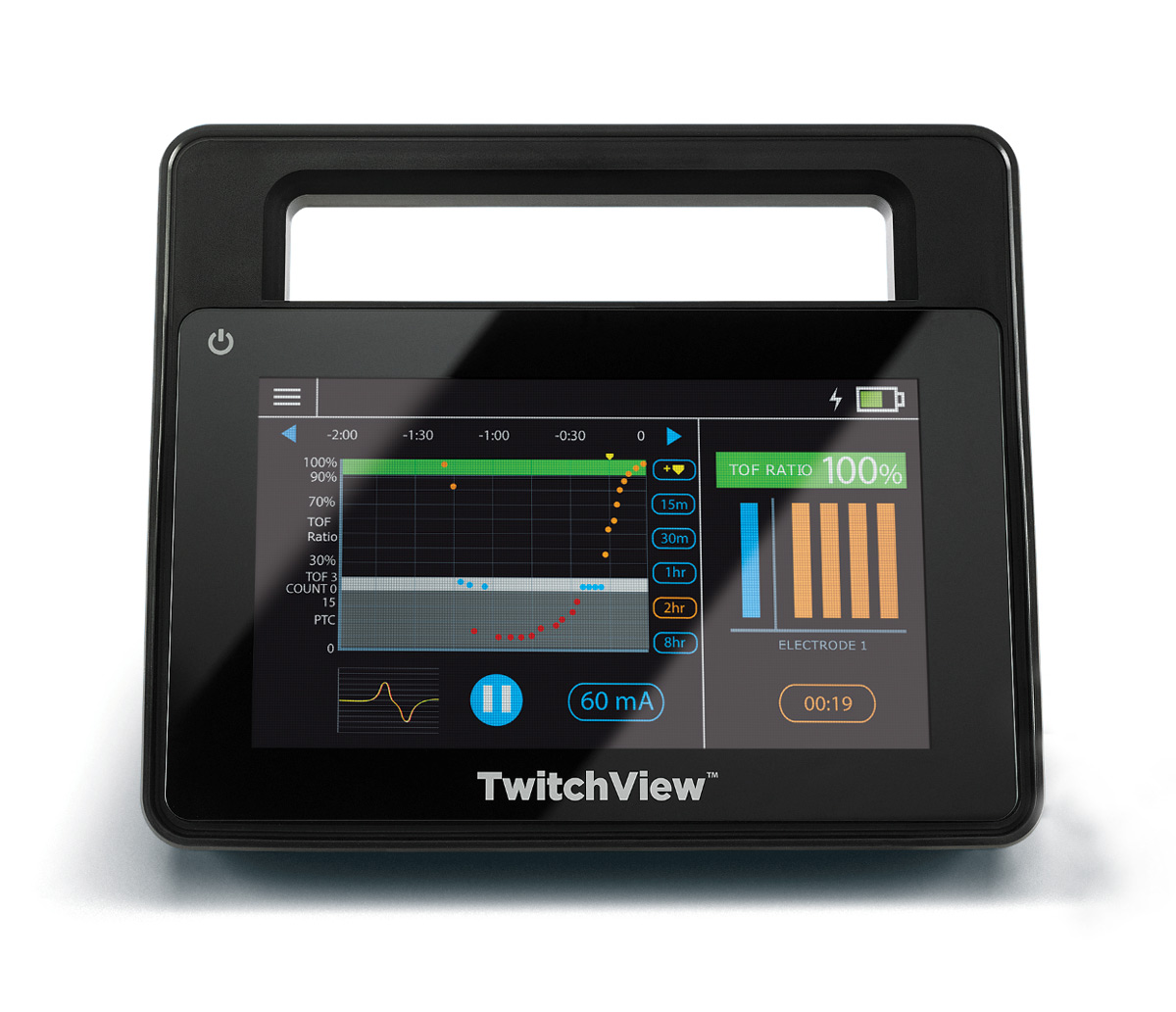 TwitchView TOF monitor display screen